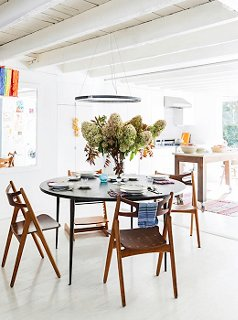 The Family Gathers Around The Dining Table For Nightly Dinners And  Homework, And Stools Get