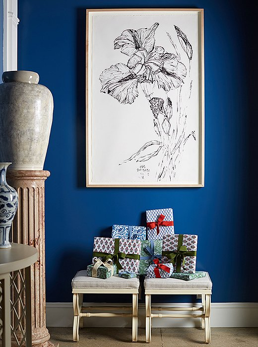"""""""It's a time to be spontaneous,"""" says Bunny, who has made it tradition toset aside wrappedgifts for unexpectedgueststoboth her home and her showroom."""