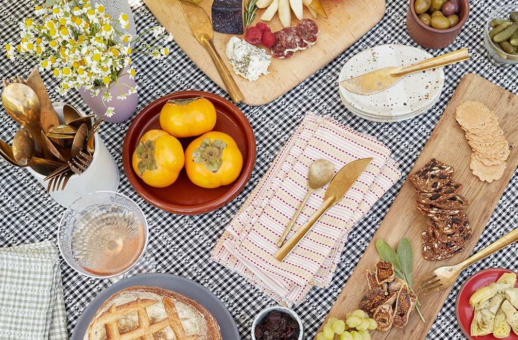 An ample cheese board—paired with rustic bread and crackers—is always a crowd-pleaser. And best of all? It can be prepared at a moment's notice when surprise guests pop in.
