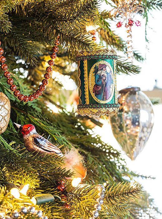 Mix ornate heirloom ornaments with simple glass globes and teardrops for a classic tree that celebrates holidays past.