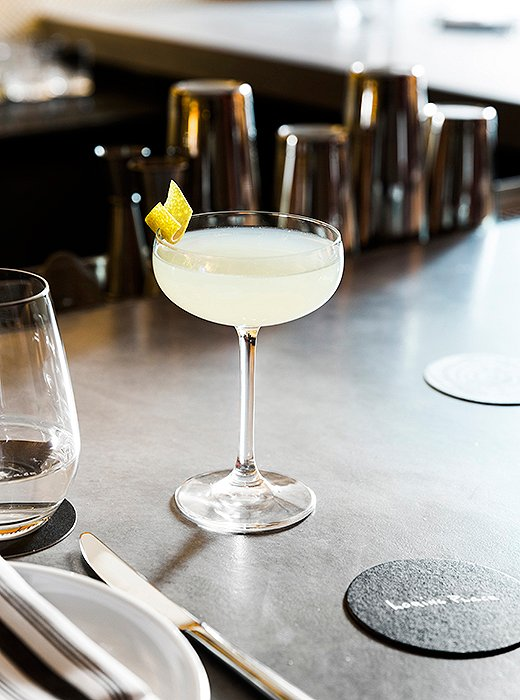 A cocktail called the Bee's Knees is made with local gin and honey.