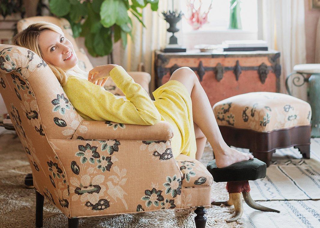 Designer Celerie Kemble photographed by Stephen Karlisch.