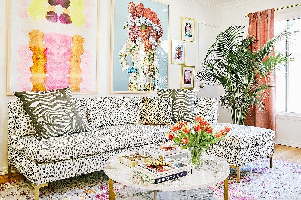 Autumn Adeigbo's Colorful Living Room