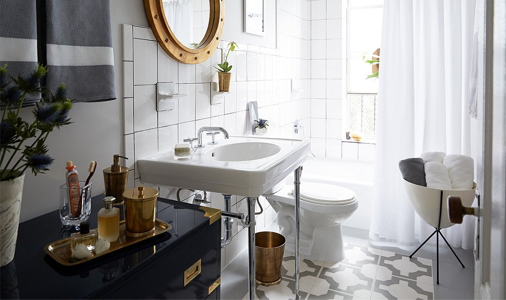 A Contractor Free Bathroom Renovation You Won T Believe One Kings Lane Our Style Blog