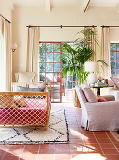 Superb Nicole Wrapped A Daybed With Raffia And Anchored It With A Moroccan Rug.  The Pink