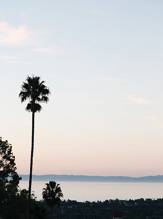 Gazing out at the pink-toned sunset: one of Santa Barbara's many simple pleasures. Photo by @citysage.