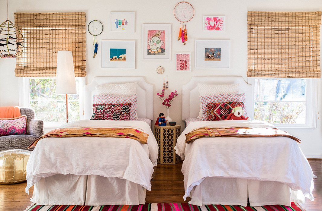 The collected and colorful vibe of the bohemian look makes it an easy way to bring fun flair to a kids' room.Photo by Shayna Fontana.
