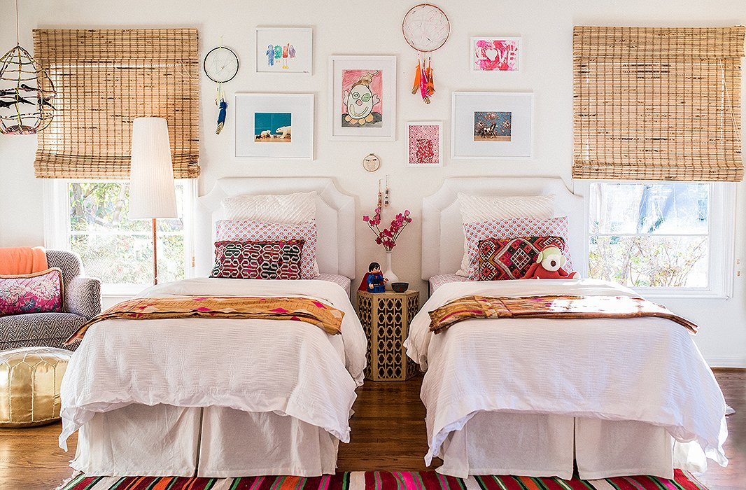 The collected and colorful vibe of the bohemian look makes it an easy way to bring fun flair to a kids' room. Photo by Shayna Fontana.