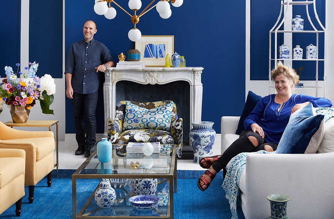 Photographer Jason Hamilton with stylist Eileen Behnke.