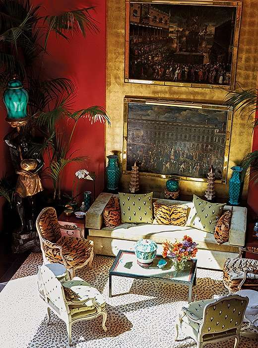 The legendary living room at designer Hutton Wilkinson's Dawnridge in L.A. (take the full tour here).