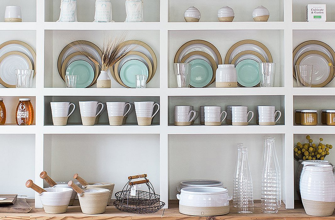 From pitchers to coffee mugs, Farmhouse Pottery's collection covers all your kitchenware needs. Photo courtesy of Farmhouse Pottery.