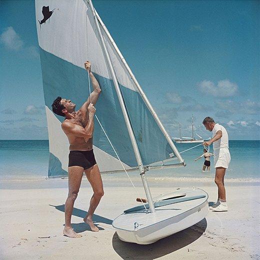 Boating in Antiguaby Slim Aarons