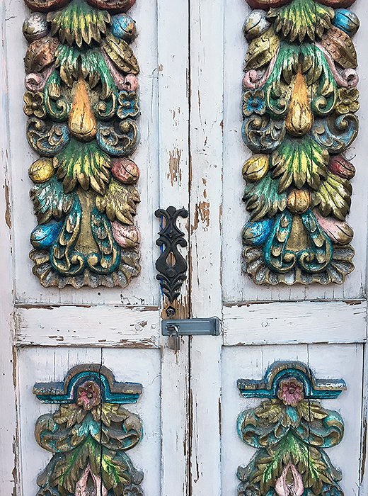 Intricate carvings—often painted in vibrant hues—turn many of San Miguel de Allende's doors into works of public sculpture.