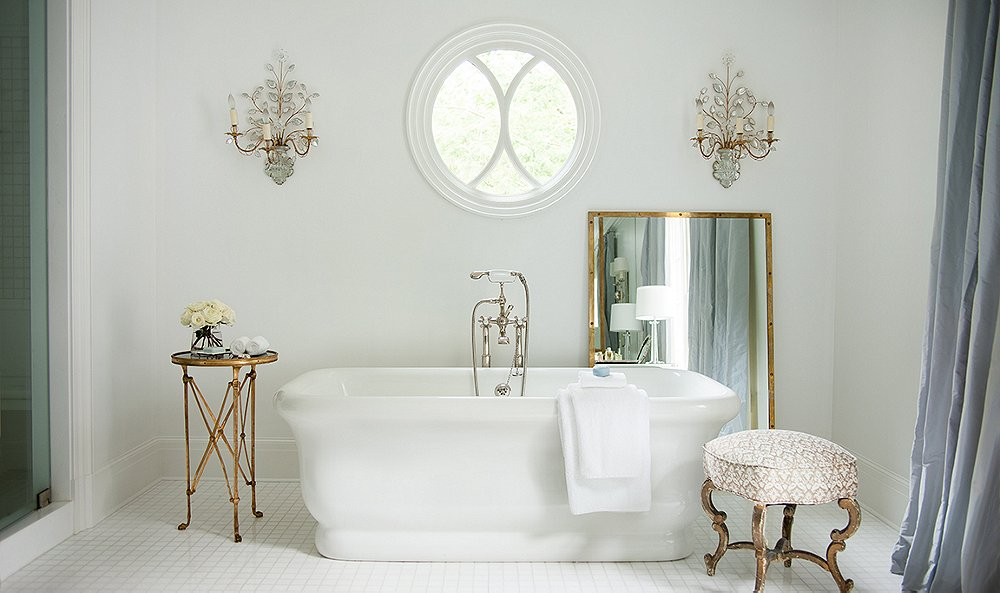 7 Gorgeous All-White Bathrooms to Inspire a Refresh