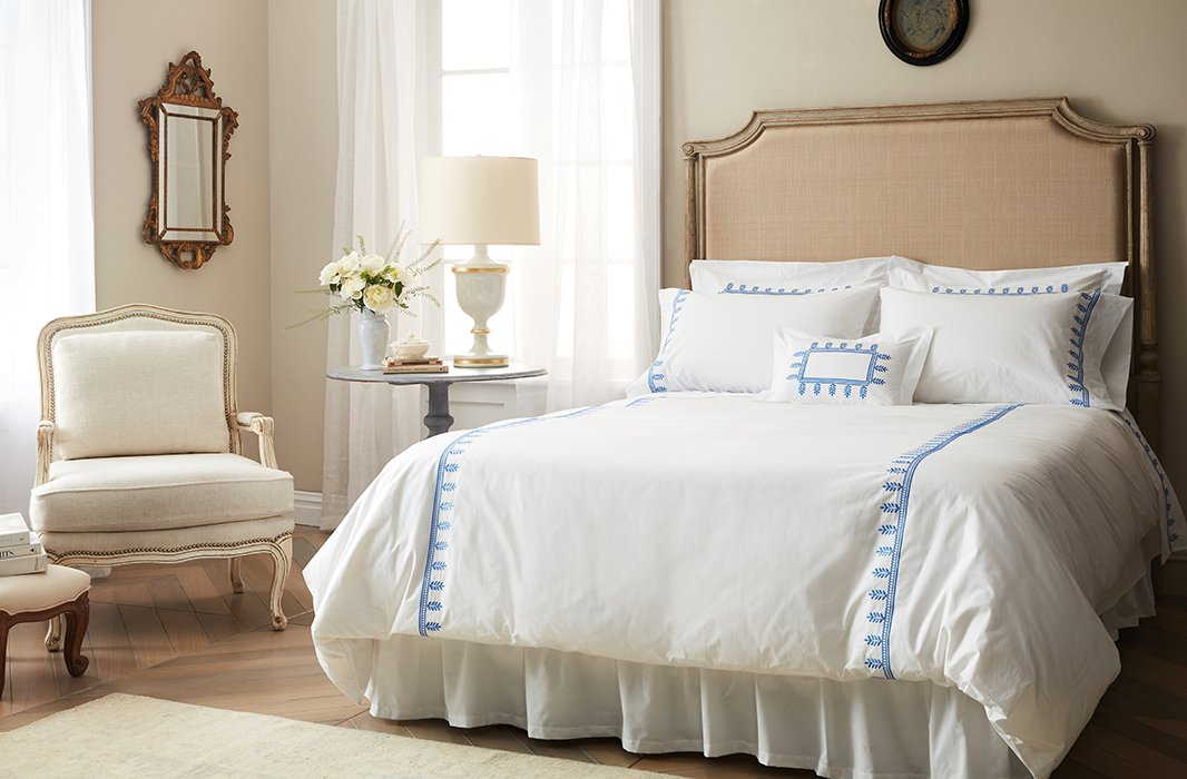 Belgian Linen is a soft neutral that makes for a truly dreamy bedroom.