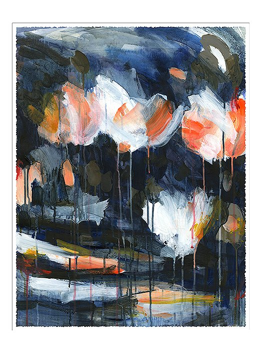 Mud Peonies II by Caroline Wright.