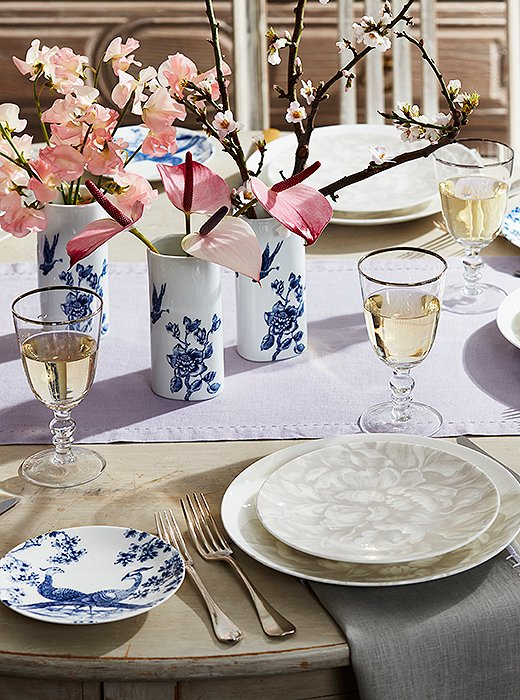 A simple but elegant table sets the perfect stage for the evening.