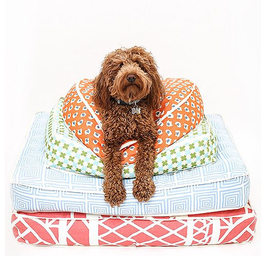 Amy Berry's dog beds give your pooch a polished and pedigreed spot to sleep. Photo courtesy of Amy Berry.