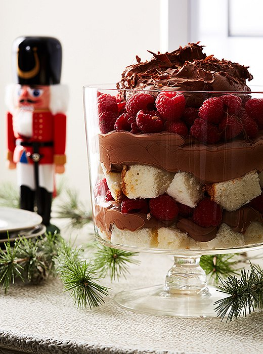 Don't let its elaborate appearance fool you: This decadent trifle couldn't be easier to whip up.