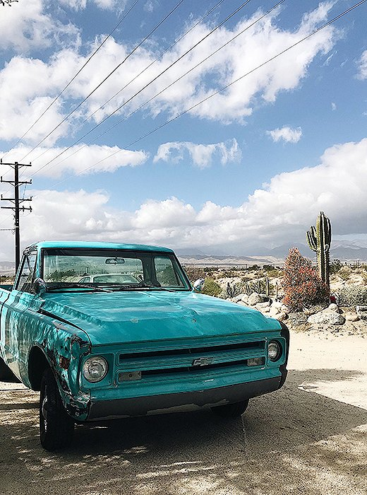 We hit the road to explore the beauty of the surrounding area (and spied this perfectly color-coordinated ride).