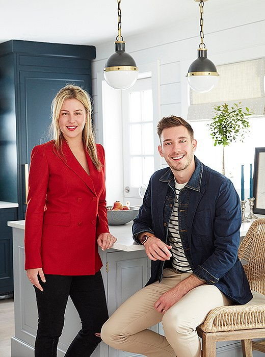 The dream team: One Kings Lane designer Sally Gotfredson and lifestyle expert Will Taylor.