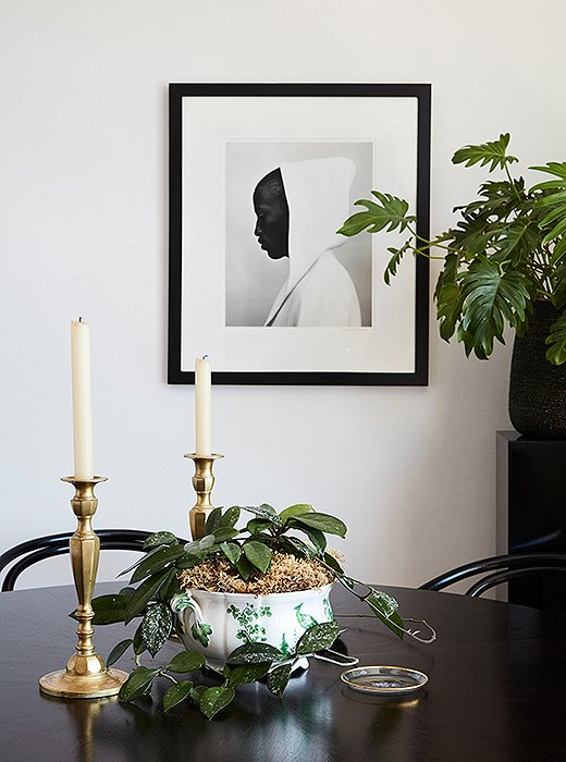 """A gift from Matt's mother, this Kurt Markus photograph is his favorite piece in the apartment. """"It's such a beautiful, clean image,"""" he says. """"Every time I look at it, I find myself grounded in quiet and calm."""""""