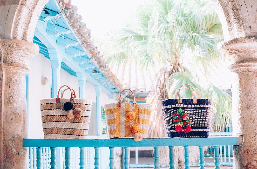 Whether you're stuck in the city or lounging on the beach, Mar y Sol's vibrant totes are certain to make a summery statement. Photo courtesy of Mar y Sol.