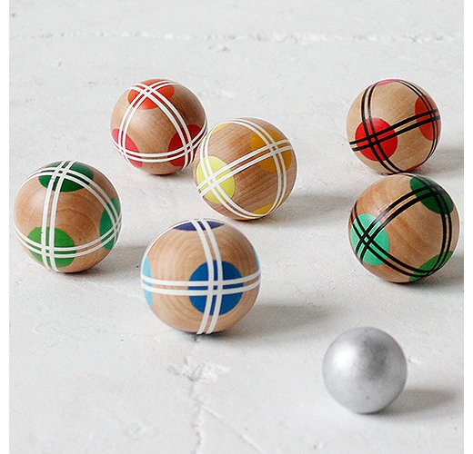 Let the games begin! Bright bocce balls from Fredericks and Mae make friendly competition that much more fun. Photo courtesy of Fredericks and Mae.