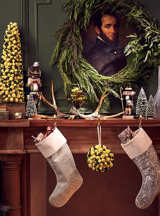 Try a handsome take with a mix of masculine accents and Christmas classics.