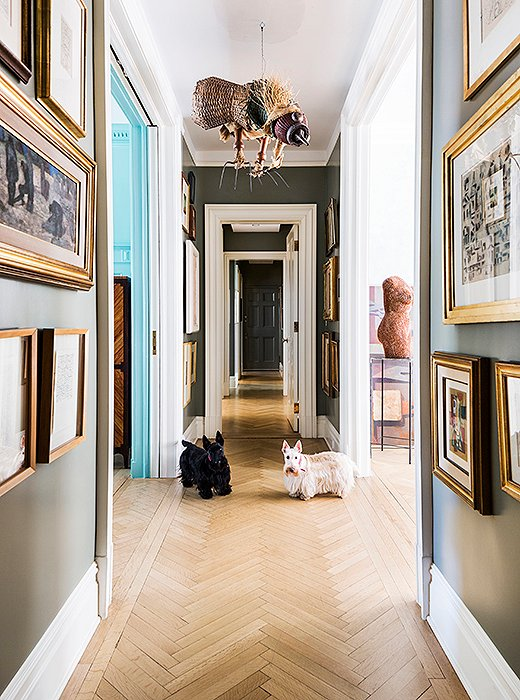 Visitors to this Manhattan address must first answer to Alfa and Romeo, who patrol their art-filled home with pride and purpose.