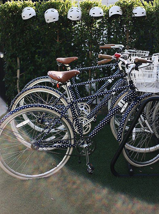 Take one of the hotel's polka-dot bikes for a spin around town—they're free for guests to use.