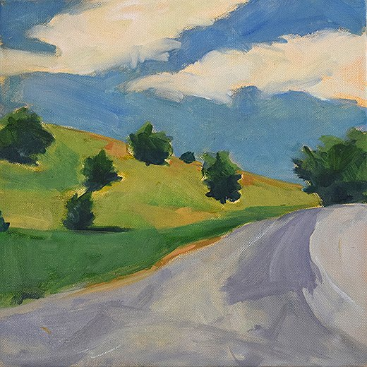 Driving to the Farm by Christen Yates.