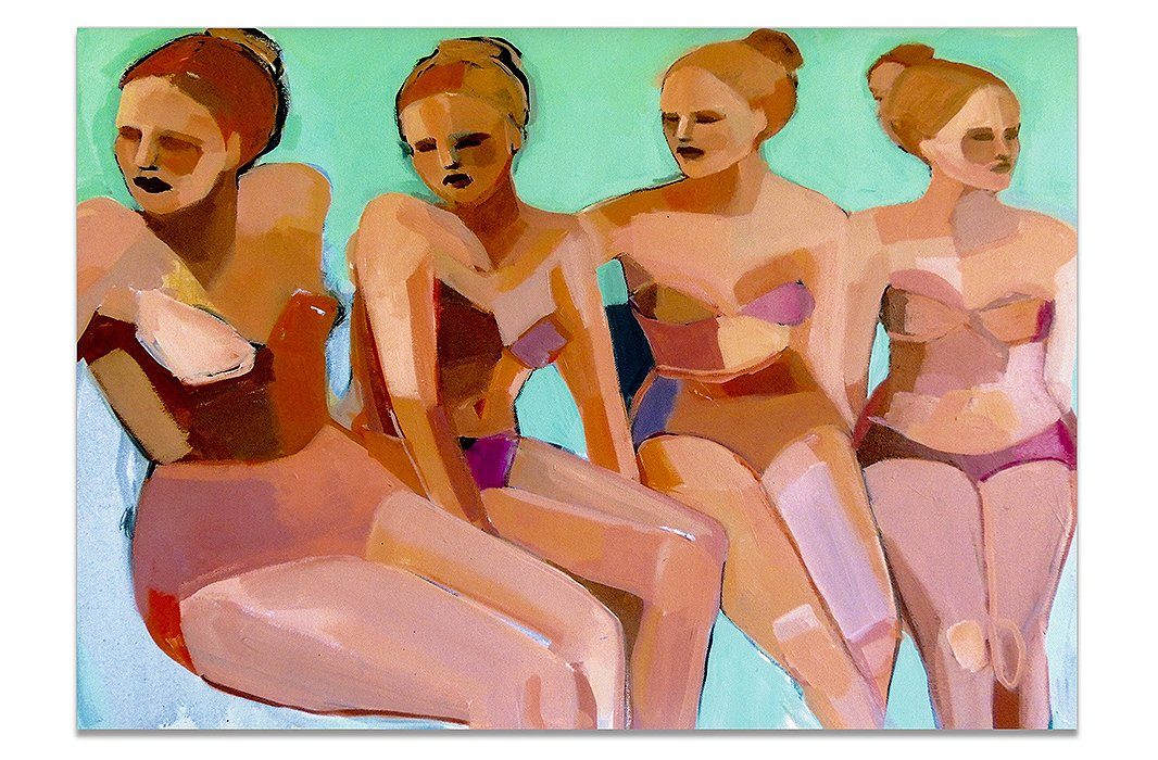 InFour Bathers, among other worksby Hayley Mitchell, the Cubist influence is apparent. Teil Duncan and Jane Feilare two other popular working artists who have clearly been influenced by Picasso.