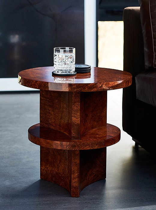 The Brewster Accent Table, part of the Modern Icons collection by Ralph Lauren Home.