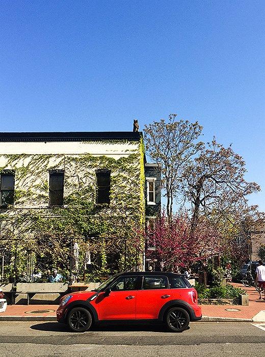 The scene outside neighborhood favorite Big Bear Cafe. Photo by @reema_desai.