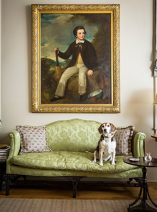 Although Henry is a purebred, he feels right at home among the mixedpedigree of furnishings—family heirlooms, finds from global travels—that give JuliaReed's New Orleans home its eclectic, even eccentric, air.