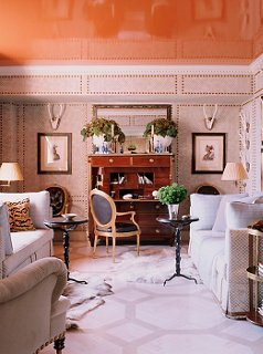 Photo by William Waldron / The Interior Archive & 8 Designer Rooms with Gorgeous Painted Ceilings
