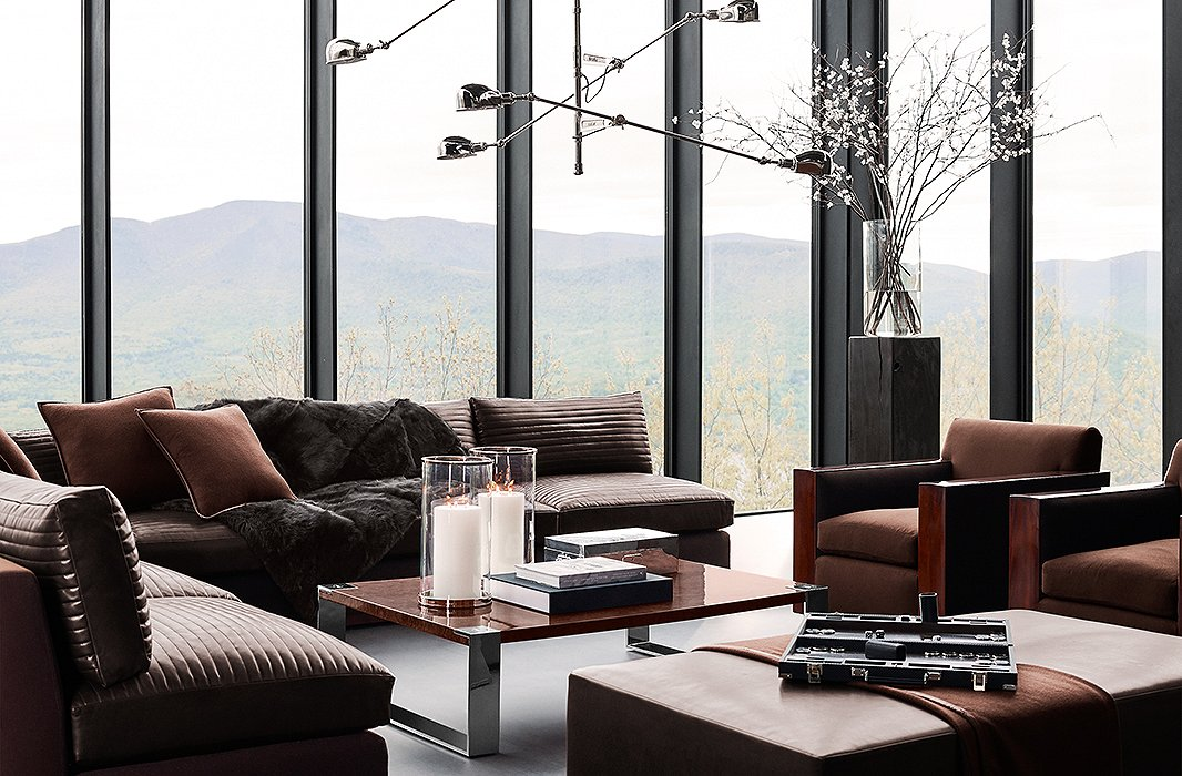 Furnishings From The Modern Icons Collection By Ralph Lauren Home Including Desert Sectional