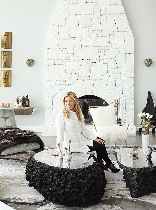 The designer, Sasha Bikoff.