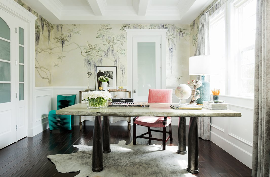 Beautiful Home Office Inspiration: Inside Rachel Roy's Impeccably Elegant Home Office