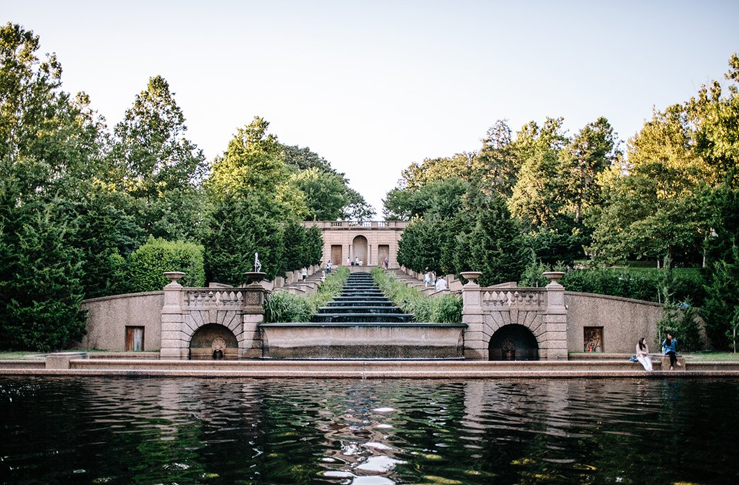 You can't top the view at Meridian Hill Park, one of Reema's favorite open-air gathering spots. Photo by @reema_desai.