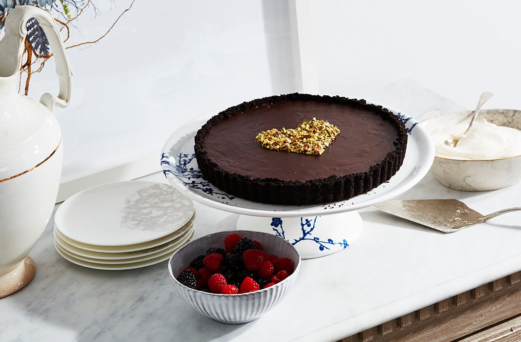 Double chocolate makes for a doubly decadent dessert.