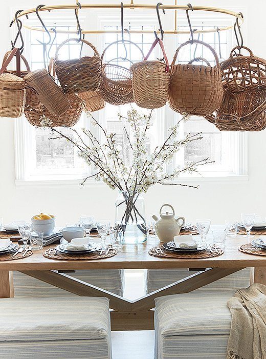 We have a thing for baskets—and for a charmingly set table.