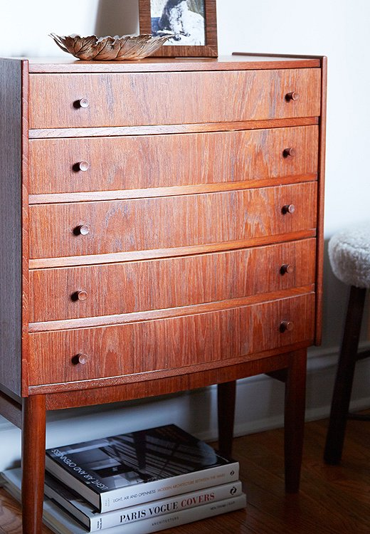 "A multidrawer dresser is ideal for storing small items. ""It's having a spot for everything and thinking about the real functionality of things,"" says Shawn. ""Ask, What purpose can the furniture serve? Does it provide extra storage?"""