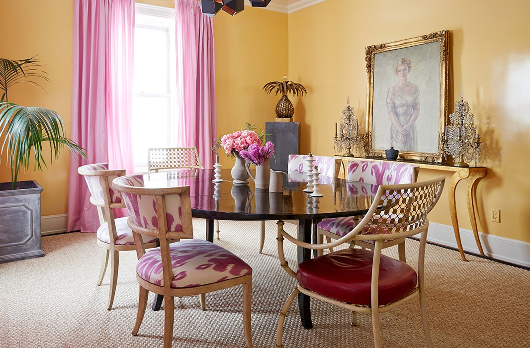 """This room gets so much light, and I repainted it about two years ago,"" says Amanda of her dining room, which had been a chocolate brown and used less frequently over the years. ""Now that I've repainted it I use it a lot to think and write when I'm not actually in the office."""