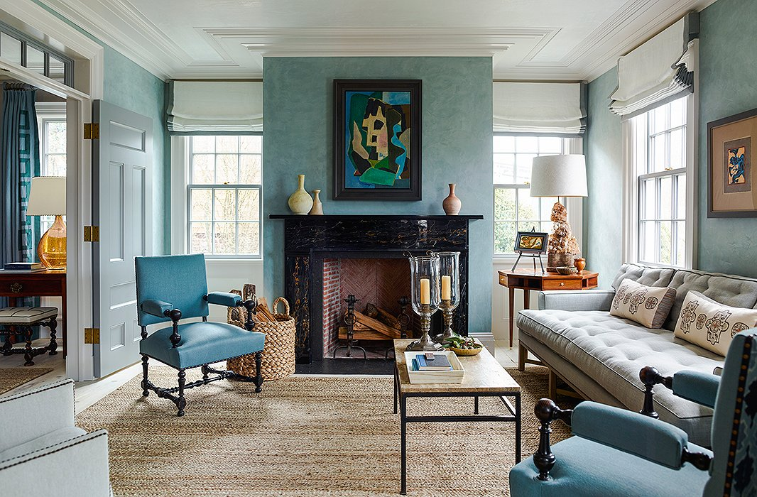 39 Living Room Ideas With Light Brown Sofas Green Blue: 8 Top Interior Designers Share Their Favorite Blue Paint