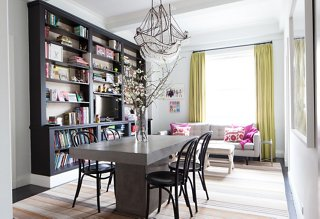 In Her Multifunctional Dining Room, Lilly Opted For Chic Comfortu2014a Striped  Rug Is
