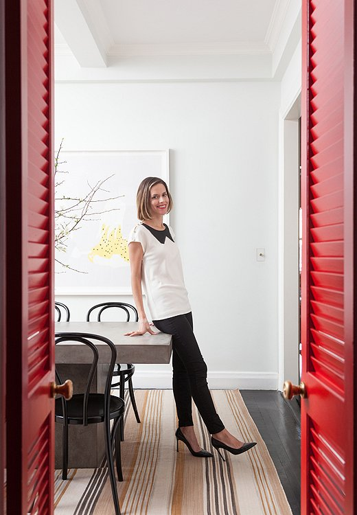 "Lilly loves a painted door. ""It's such an affordable, easy way to add layers to your home,"" she says. ""Do more than one and it creates continuity."""