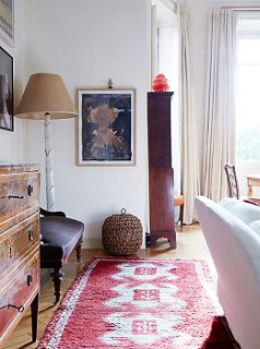 The Red In This Turkish Rug Works With The Red On The Sofau2014as Well