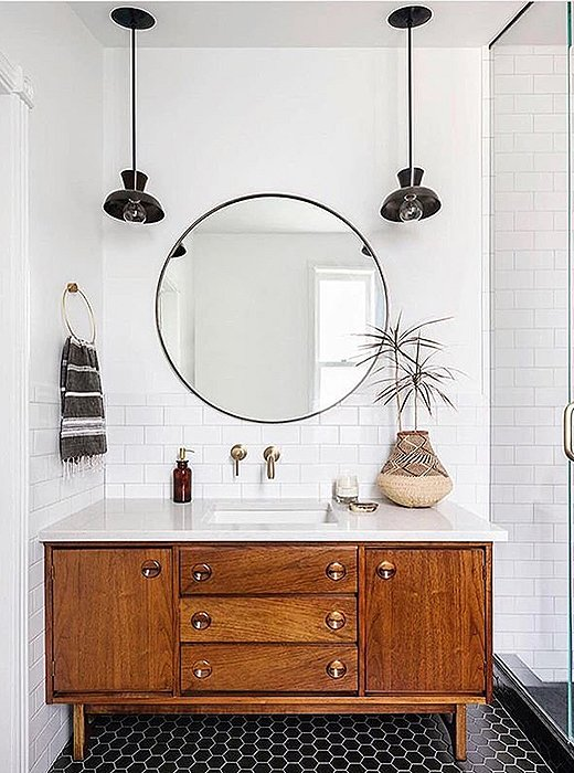 Simplicity and symmetry make for a delightful bath. Photo courtesy of Annabode + Co.